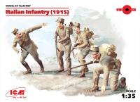 Сборная модель Пехота Италии (1915 г.), (4 фигуры)
