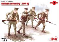 Сборная модель Пехота Британии (1914), (4 фигуры)