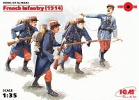 Сборная модель Пехота Франции (1914 г.), (4 фигуры)