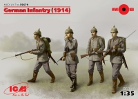 Сборная модель Германская пехота (1914 г.), (4 фигуры)