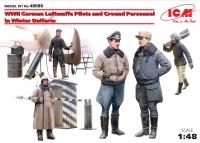 Сборная модель Германские пилоты и наземный персонал Люфтваффе II МВ в зимн