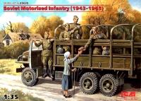 Сборная модель Советская мотопехота (1943-1945), (5 фигур)
