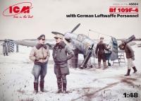 Bf 109F-4 с Германским персоналом Люфтваффе