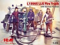 Сборная модель Пожарная машина L1500S LLG с германскими пожарными
