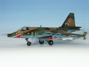 Модель - Советский штурмовик Су-25.