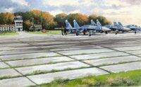 Сборная модель Советские плиты аэродромного покрытия ПАГ-14