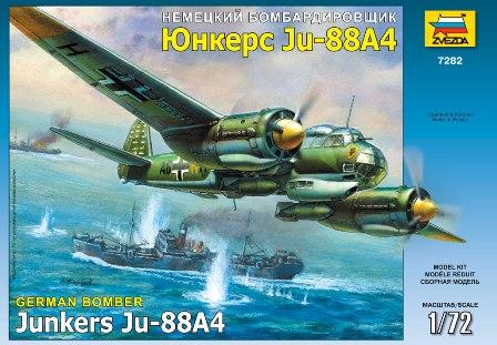 Сборная модель Немецкий бомбардировщик JU-88 A4