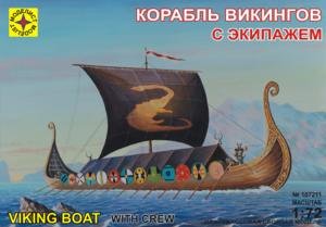 Сборная модель корабль викингов с экипажем