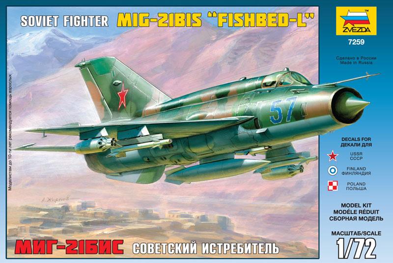 Сборная модель Истребитель МиГ-21бис