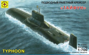 Сборная модель Подводный ракетный крейсер