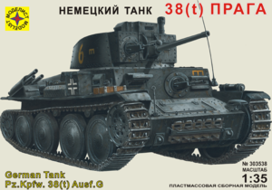 Сборная модель танк 38(t)