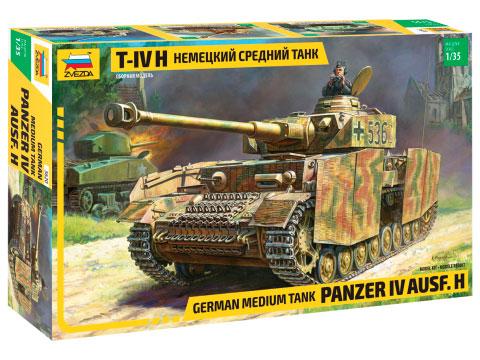 Сборная модель Немецкий средний танк T-IV (H)