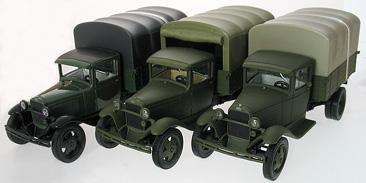 Модель ГАЗ-АА бортовой с тентом