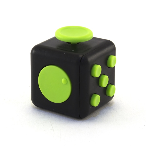 Черно-зеленый антистресс куб