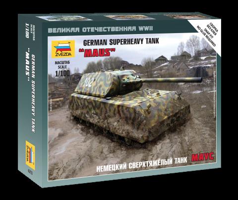 Сборная модель Немецкий сверхтяжелый танк «Маус»