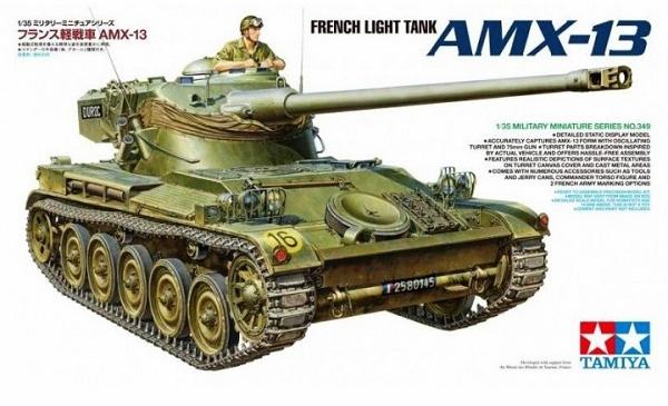 Модель Французский легкий танк AMX-13, с фигурой командира (1:35)