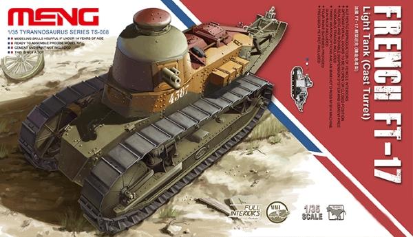 Сборная модель Meng 1/35 FT-17 Французский легкий танк