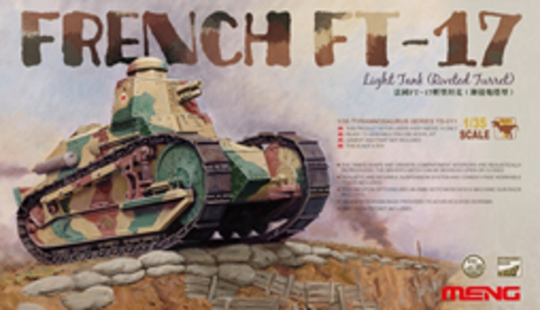 Сборная модель Meng 1/35 FRENCH FT-17 LIGHT TANK (RIVETED TURRET)