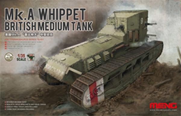 Модель Meng 1/35 Британский Средний Танк Mk.A Whippet