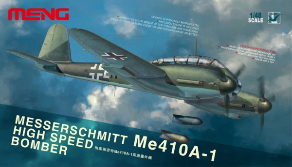 Модель Meng 1/48 Самолет Messerschmitt Me-410 A-1 Hight Speed Bombe