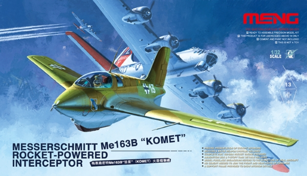 Сборная модель Meng 1/32 Messerschmitt Me163B Komet Rocket-Powered Intercep