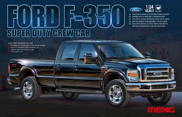 Сборная модель Meng 1/24 FORD F-350 SUPER DUTY CREW CAB