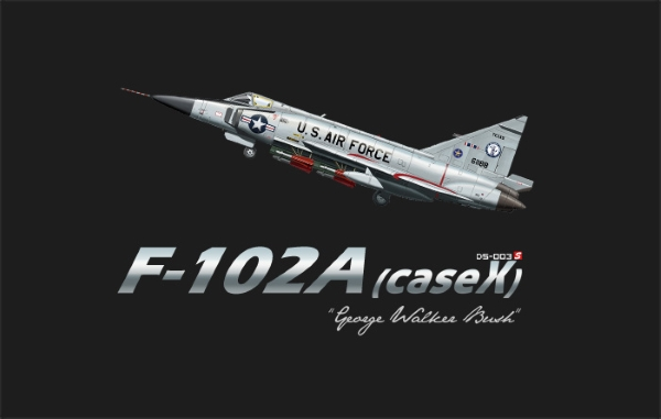 "Сборная модель Meng 1/72 F-102A (CASE X)""GEORGE WALKER BUSH"""