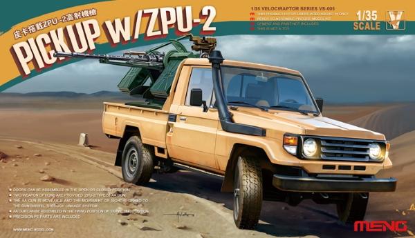 Сборная модель Meng 1/35 PICKUP w/ZPU-2