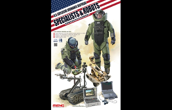 Сборная модель Meng 1/35 U.S. EXPLOSIVE ORDANCE DISPOSAL SPECIALISTS & ROBO