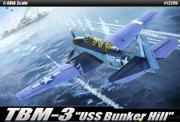 Сборная модель Самолёт  TBM-3 Эвенджер (1:48)