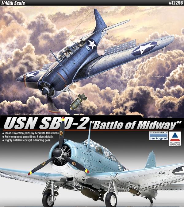 Сборная модель Самолет USN SBD-2