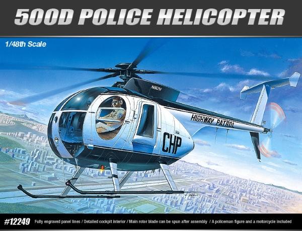 Сборная модель Вертолет HUGHES 500D Police Helicopter  (1:48)