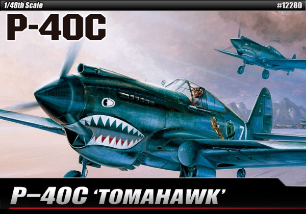 Самолёт  P-40C Tomahawk (1:48)