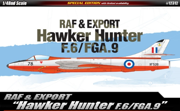 Модель Самолет  RAF & Export Hawker Hunter F.6/FGA.9  (1:48)
