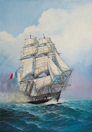 Сборная модель Французский фрегат Ашерон 1/200