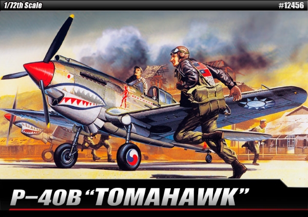 Самолет  CURTISS P-40B TOMAHAWK (1:72)