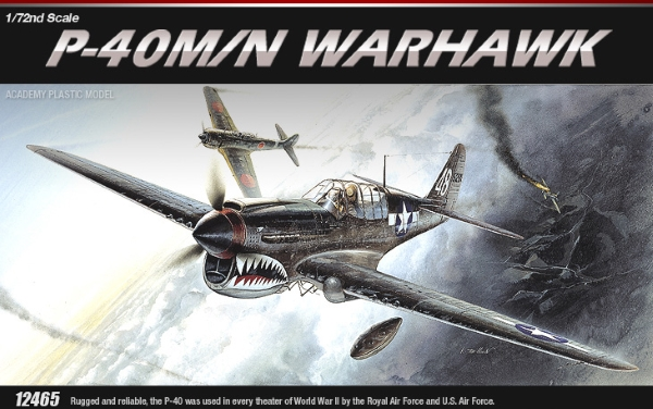 Сборная модель Самолёт  P-40M/N Warhawk (1:72)