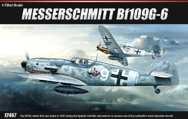 Модель Самолет  MESSERSCHMITT BF-109G (1:72)