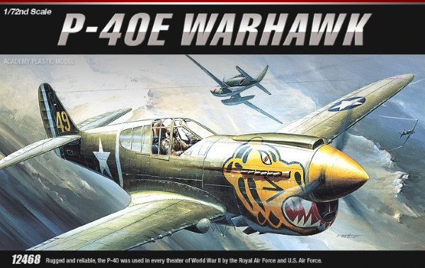 Сборная модель Самолёт  P-40E WARHAWK  (1:72)