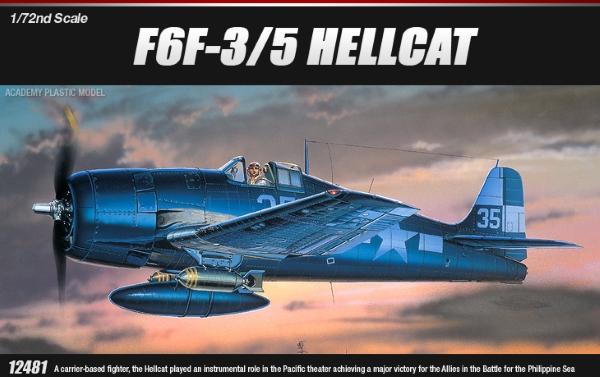 Сборная модель Самолёт  F6F-3/5 HELLCAT  (1:72)