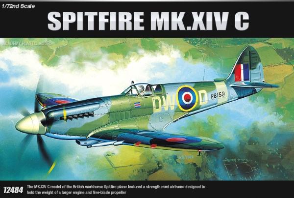 Сборная модель Самолет  SPITFIRE MK XIVC  (1:72)