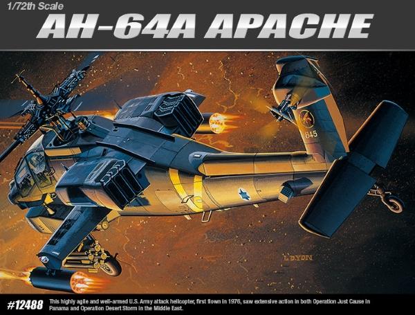 Сборная модель Вертолёт   AH-64A (1:72)