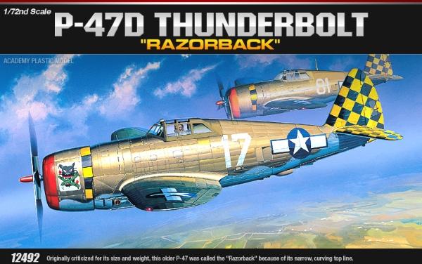 Сборная модель Самолёт  P-47D Thunderbolt Razor (1:72)