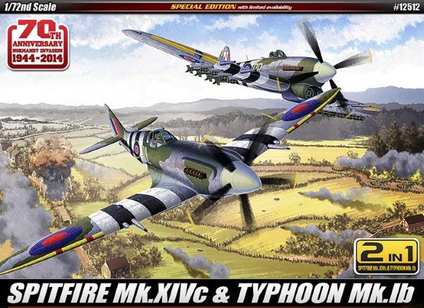 Сборная модель Самолет   SPITFIRE Mk.14C & TYPHOON Mk.IB