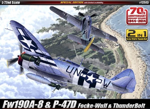 Самолет  P-47D & FW190A-8