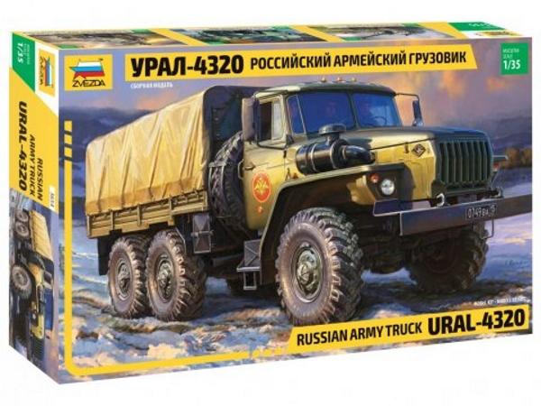Сборная модель Российский армейский грузовик Урал-4320