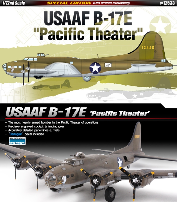 Самолёт  USAAF B-17E Pacific Theater  (1:72)