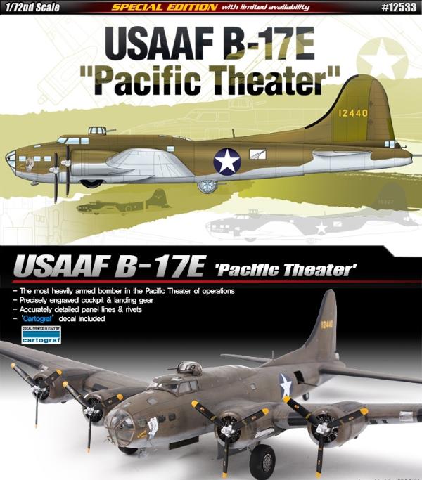 Модель Самолёт  USAAF B-17E Pacific Theater  (1:72)