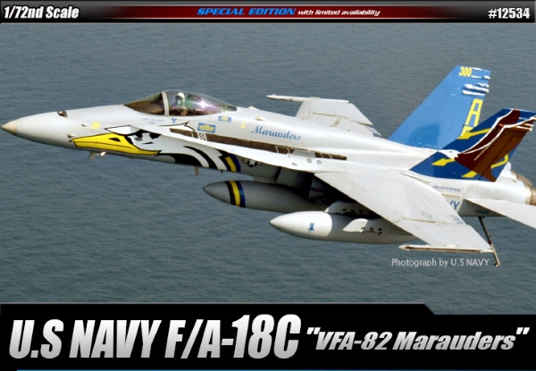 Самолёт  F/A-18C Hornet VFA-82 Marauders  (1:72)