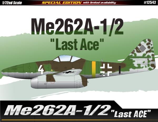 Сборная модель Самолет  Me262A-1/2